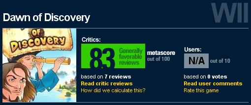 Anno Score on Metacritic